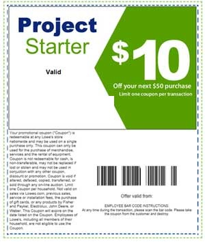 graphic regarding Lowes 10% Printable Coupon referred to as Printable dwelling advancement Lowes $10 off $50 discount coupons